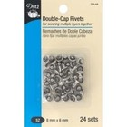 Dritz . DRZ Double-Cap Rivets 8Mm Cap X 6Mm Post 24 Pkg