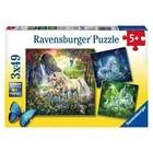 Ravensburger (fx shmidt) . RVB Beautiful Unicorn 3X49 Puzzles
