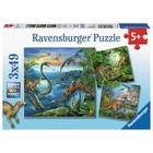 Ravensburger (fx shmidt) . RVB Dinosaur Fascination 3X49 Puzzles