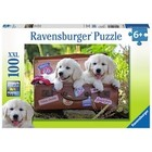 Ravensburger (fx shmidt) . RVB Traveling Pups 100Pc Puzzle