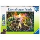Ravensburger (fx shmidt) . RVB Wolf Family  200Pc Puzzle