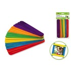 "MultiCraft . MCI 7-7/8X1"" Extra Jumbo Colored Craft Sticks 24/Pk"