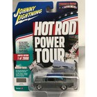 Johnny Lightning . JNL 1955 Chevy (Hot Rod Power Tour) Gray with Blue Top & Custom Graphics