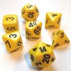 Chessex . CHX Chessex Opaque: 7Pc Yellow / Black