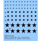 "Archer Fine Transfers . AFT 1/35 Modern US National Insignias (Black 3"", 6', 12"")"