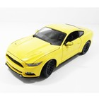 Maisto . MAI 1/18 2015 FORD MUSTANG YELLOW
