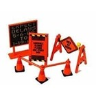 Phoenix Toys . PHO 1/24 Roadside Accessories: Warning Signs, Cones, Barrier Bars