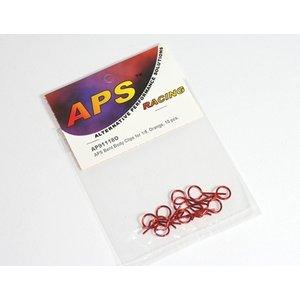 APS Racing . APS 1/8 Bent Body Clips Orange