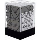 Chessex . CHX Opaque: 36D6 Grey / Black Dice