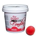 Fat Daddio's  . FAT Red Fondant 8oz (Vanilla Flavor)