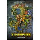 One Time . ONE Steampunk Coloring Book