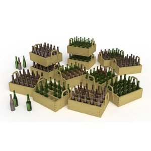 Miniart . MNA 1/35 Beer Bottles & Wooden Crates