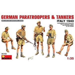 Miniart . MNA 1/35 German Paratroopers & Tankers Italy 1943