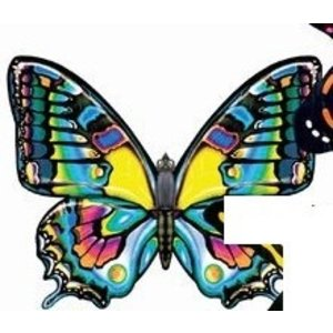 "Gayla Industries . GAL 42""X26"" Peacock Butterfly Wing Flapper Kite"