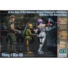 Masterbox Models . MTB 1/24 At the Edge of the Universe: Space Mercenary w/ Heavy Gun, Robot & Android Waitress