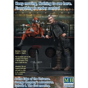 Masterbox Models . MTB 1/24 At the Edge of the Universe: Galactic Sheriff & Four-armed Joker Creature