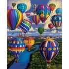 "Plaid (crafts) . PLD Balloon Festival Paint by Number (16""x20"")"