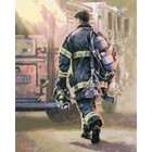 "Plaid (crafts) . PLD Thomas Kinkade: Selfless Service Firefighter Paint by Number (16""x20"")"