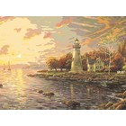 "Plaid (crafts) . PLD Serenity Cove Lighthouse Paint by Number (20""x16"")"