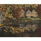 """Plaid (crafts) . PLD Autumn Reflections (Lakeside Cottage) Paint by Number (20""""x16"""")"""