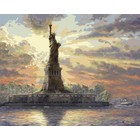 "Plaid (crafts) . PLD Dedicated to Liberty (Statue of Liberty, NY) Paint by Number (20""x16"")"