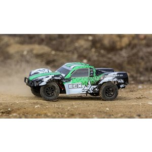 Electrix . ECX 1/10 Torment 4WD SCT Brushed RTR, White/Green