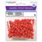 MultiCraft . MCI Red Barrel Pony Beads
