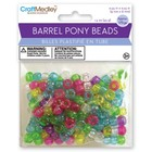 MultiCraft . MCI Opaque Mix Barrel Pony Beads