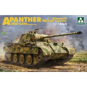 TAKOM . TAO 1/35 Panther Ausf.A Mid/Late Production With Zimmerit and Interior