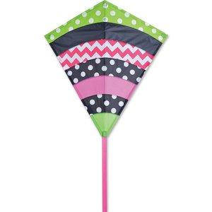 Premier Kites . PMR 30 in. Diamond Kite - Whimsical