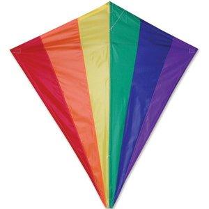 Premier Kites . PMR 30 in. Diamond Kite - Rainbow