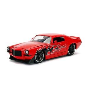 Jada Toys . JAD 1/24 1971 Chevy Camaro - Glossy Red
