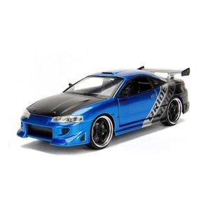 Jada Toys . JAD 1/24 1995 Mitsubishi Eclipse - Blue