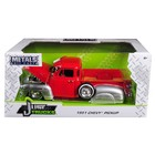 Jada Toys . JAD 1/24 1951 Chevy Pickup - Glossy Red