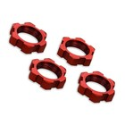 Traxxas Corp . TRA Traxxas Wheel Nuts Splined 17mm Serrated (Red Anodized)