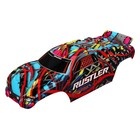 Traxxas Corp . TRA Traxxas Body, Rustler, Hawaiian graphics (painted, decals applie