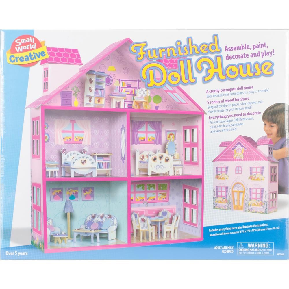 Small World Toys Creative . SWT Furnished Doll House - PM Hobbycraft