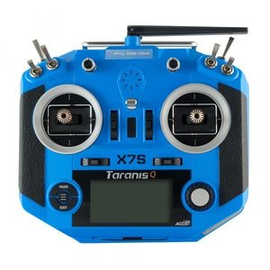 FrSky . FRS Frsky QX7 transmitter w/ M7 gimbals and battery - blue colour
