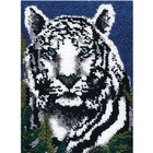 Wonder Art . WDA WHITE TIGER LATCH HOOK 24X34
