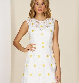 HUTCH Cap Sleeve Mini Dress with Daisy
