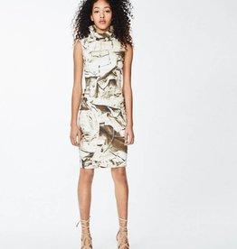 NICOLE MILLER High Neck Print Dress