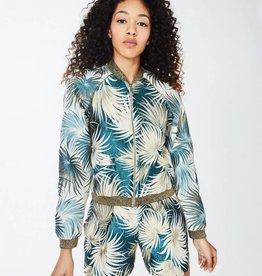NICOLE MILLER Palm Print Bomber Jacket
