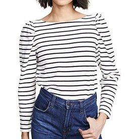 LA VIE Long Sleeve Striped Jersey Top
