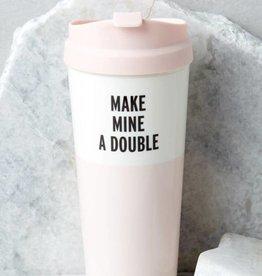 """KATE SPADE """"Make Mine A Double"""" Thermal Mug"""