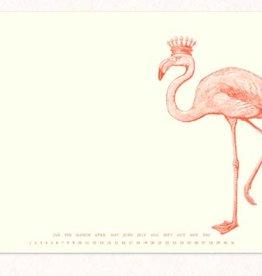 Royal Flamingo Mousepad Notepad