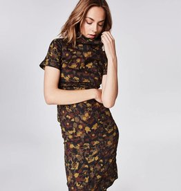 "NICOLE MILLER High Neck ""Flower Camo"" Dress"