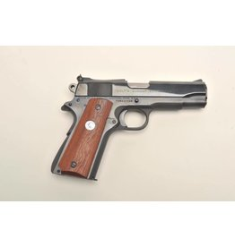 Colt Colt Commander Semi Auto Pistol 9MM, 4.25 in, Wood Grp, 9+1 Rnd, High Profile with Dots, Full Sz Blued Frame