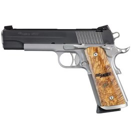 Sig Sauer Sig Sauer  1911 STX Semi Auto Pistol 45 ACP, 5 in, Wood Grp 8+1 Rnd, Adj Combat Night, S/S Frame