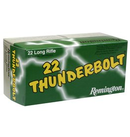 Remington Remington Thunderbolt Rifle Ammo 22 LR, RN, 40 Grains, 1255 fps, 10 boxes