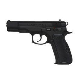 CZ CZ  75 B Omega Semi-Auto Pistol, 9MM, 4.5'' Bbl Black Steel Frame, Black Rubber Grip, 10 Rnd, SA/DA, Luminiscent Sights, Decocking+Manual Safety
